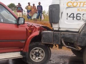 Accident sur la nationale/Photo Infobascongo