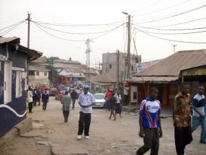 une avenue de la commune Nzanza à Matadi/infobascongo