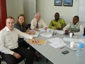 séance de travail entre la délégation du Bas-Congo et Sumimistros Homs à Igualada