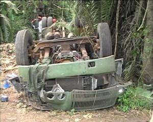 véhicule militaire accidenté/Infobascongo