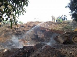 foyer de feu à l'Onatra Mbanza-Ngungu/Infobascongo