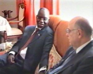 tête à tête Roger Meece- Mbatshi/Infobascongo