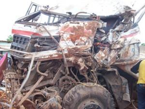 Véhicule Daf accidenté à Mbanza-Ngungu/infobascongo