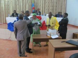 Vote à l'assemblée provinciale du Bas-Congo