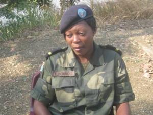 Magali,élève officier à l'académie militaire de Kananga/Infobascongo