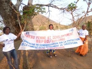 La secrétaire exécutif du Refed et ses collaboratrices à Tshimpi à Matadi/Infobascongo