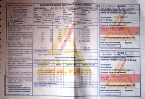 Une facture de d'énergie électrique basse tension / Infobascongo