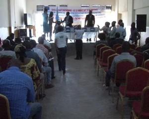Les journalistes en atelier/Infobascongo