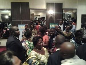 Des participants à la sortie officielle du Cabef à Kinshasa(Sultani)/Infobascongo