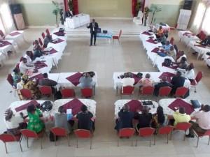 Les participants à l'atelier sur les infractions de presse/infobascongo
