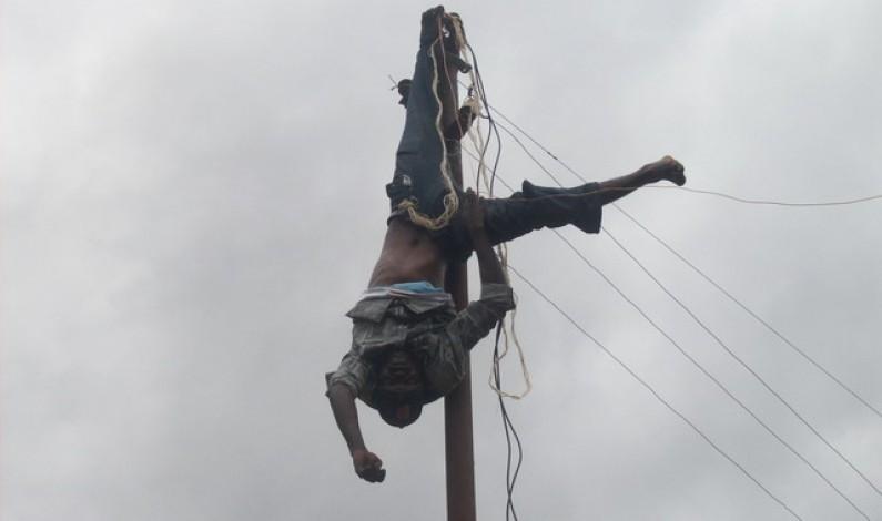 Matadi: Un journalier de la SNEL électrocuté sur un poteau électique en plein raccordement fauduleux