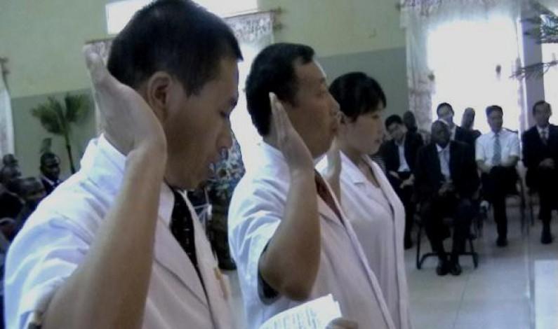 Bas Congo : des médecins chinois se soumettent à la loi en renouvelant serment