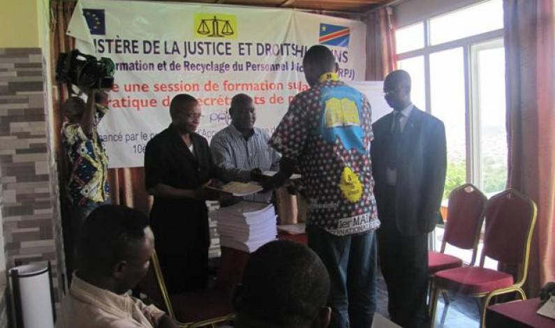Bas-Congo : Les secrétaires des parquets satisfaits de leur formation