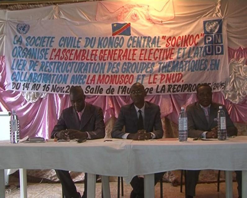 Société civile du Kongo central:nouveau comité