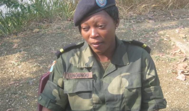 Matadi : Magali Lungungu, élève militaire fière de l'être