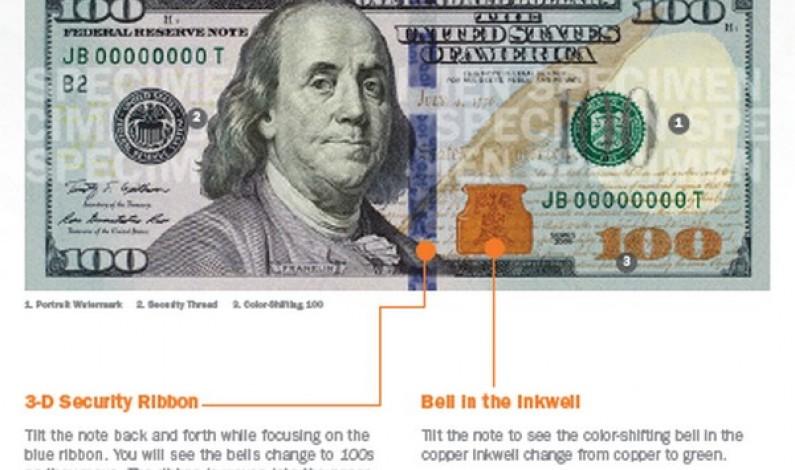 USA : le Conseil de la Réserve fédéral émet le nouveau billet de 100$
