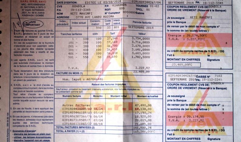 Bas -Congo : la hausse des factures de l'électricité fâchent
