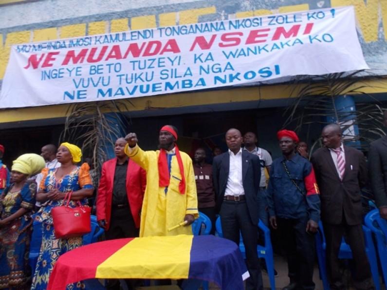 """Ne Muanda Nsemi:""""je dois prendre la terre laissée par nos ancêtres pour former notre propre gouvernement, car mon peuple est marginalisé''"""