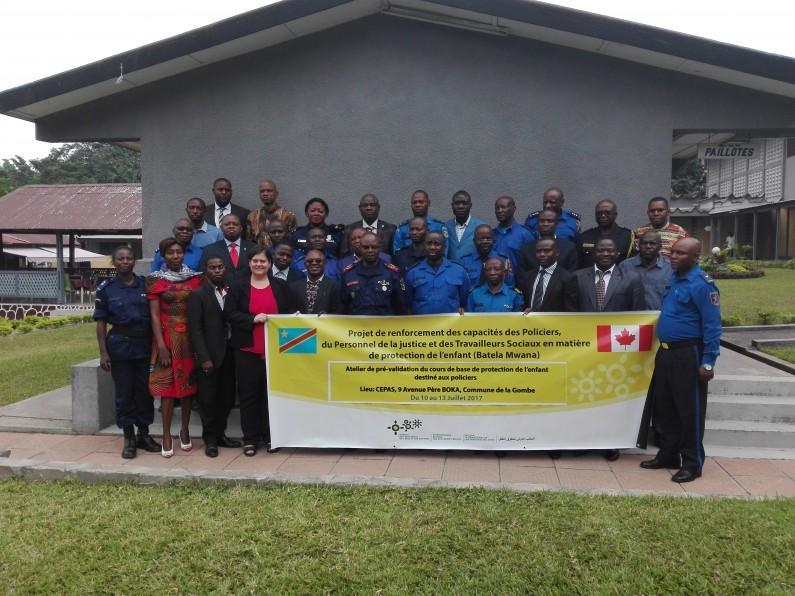 RDC :la Police sera bientôt enrichie d''un cours de base sur les droits de l'enfant et les pratiques adaptées à l'enfant