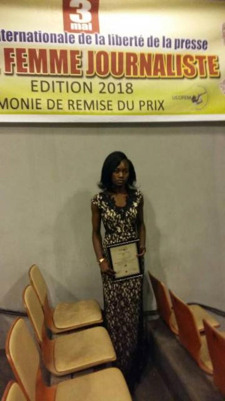 RDC : Annitha Kon de www.infobascongo.net remporte le prix' 'jeune femme journaliste''