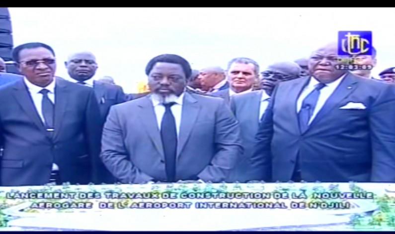 RDC : Joseph Kabila lance les travaux de construction de la nouvelle aérogare de l'aéroport de Ndjili