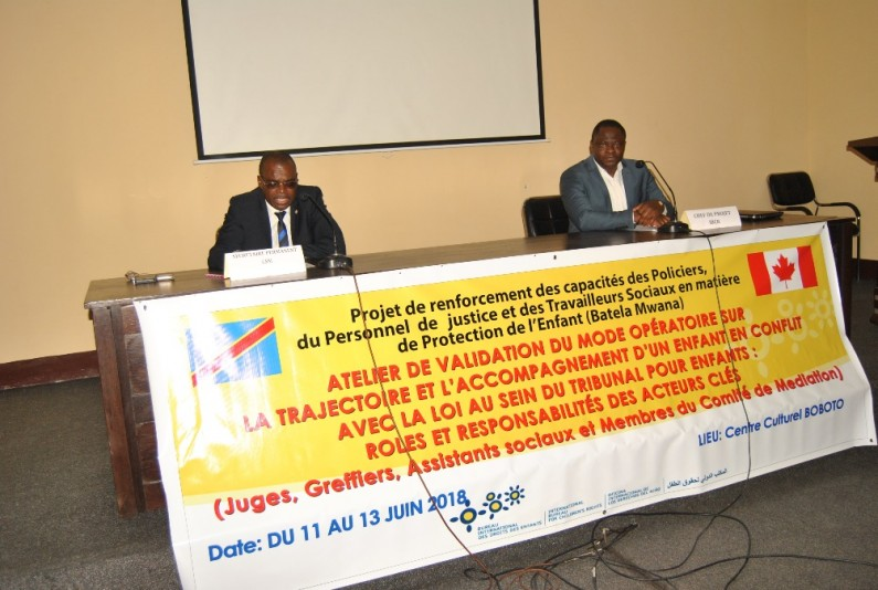 La RDC a désormais un mode opératoire sur la trajectoire et l'accompagnement d'un enfant en conflit avec la loi au sein du tribunal pour enfants