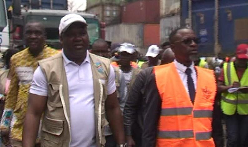 RDC:équipements électoraux réceptionnés au port de Matadi par le président de la CENI
