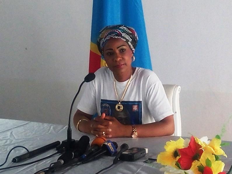 Conférence de presse de Madame Olive Lembe à Matadi