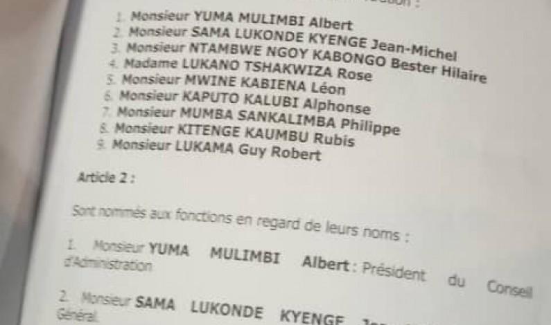 RDC:nouveaux dirigeants à la SNCC et à la Gécamines