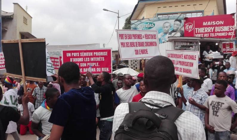 Kongo central:marche contre le projet du pont route-rail Brazzaville-Kinshasa