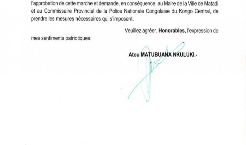 Le gouverneur s'oppose à la marche projetée par des députés nationaux du Kongo central
