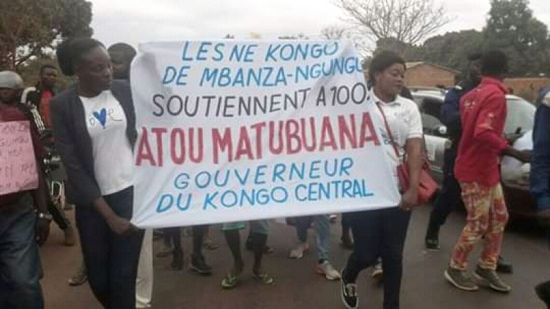 Mbanza-Ngungu: marche de soutien au gouverneur Atou