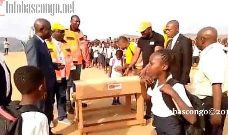 MGT, encore une donation en faveur de l'éducation: des bancs pupitres aux écoles de Matadi