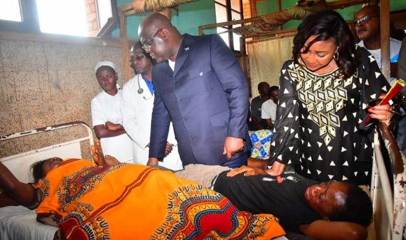 RDC: le président de la République en visite de réconfort aux rescapés de l'accident de Mbanza-Ngungu