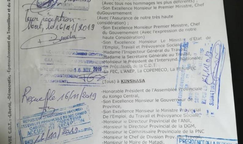 Matadi: arrêt de travail annoncé ce 18 novembre dans le secteur du commerce