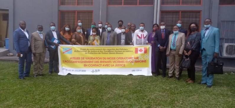 RDC : le mode opératoire sur l'accompagnement des enfants victimes et/ou témoins, en contact avec la justice validé