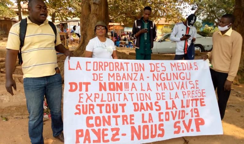 Non soutenus, les journalistes du territoire de Mbanza-Ngungu envisagent ne plus parler de la Covid-19