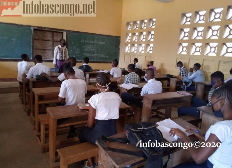 Kongo central: les élèves du cycle terminal   heureux de reprendre les cours malgré l'inconfort des mesures barrières