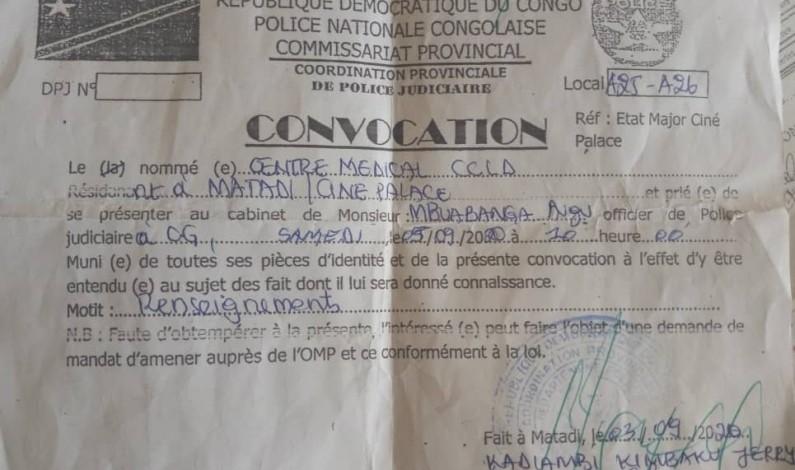 Matadi: incompréhension autour de l'identification des formations médicales par la police judiciaire