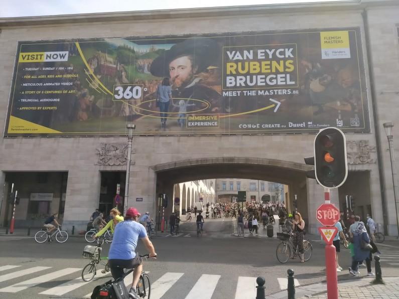 Journée sans voiture à Bruxelles en Belgique