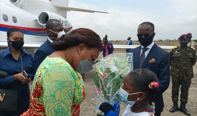 La Première dame Denise Nyakeru est arrivée à Moanda