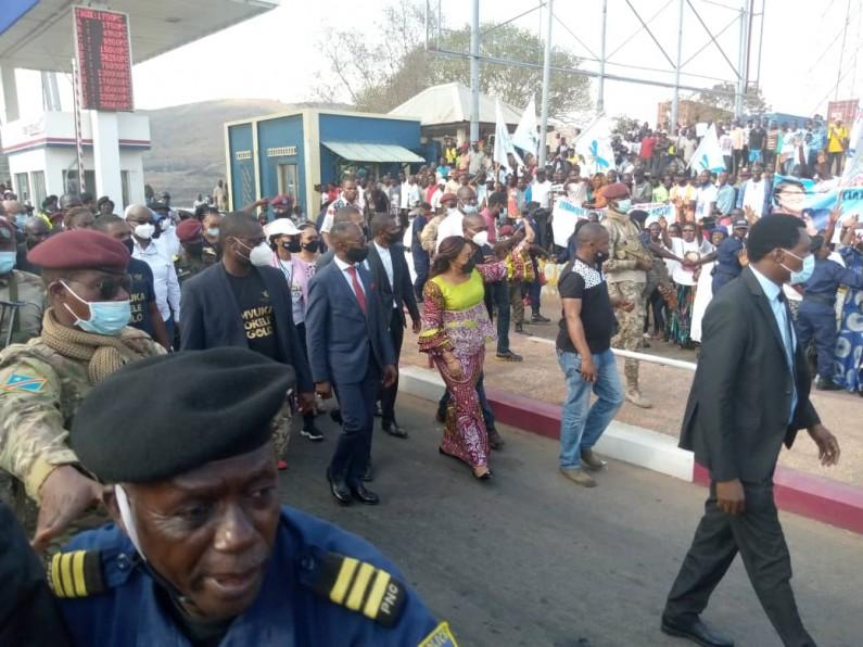 Denise Nyakeru chaleureusement accueillie à Matadi