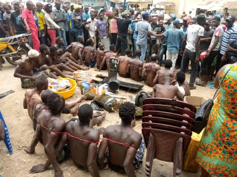 Matadi: des présumés bandits présentés au public