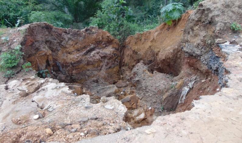 RDC: deux têtes d'érosions à Patu risquent d'interrompre la circulation sur la RN 12 Manterne-Tshela