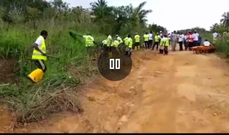 Kongo central: le CABEF en partenariat avec la fondation Ngudianza et la DVDA réhabilitent le tronçon Mpioka-Pont Nkata,à Luozi