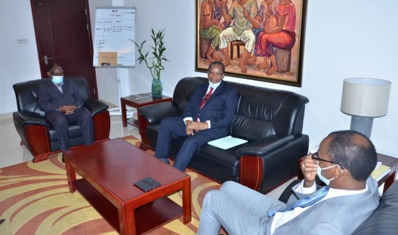 Tumba Luaba et Isidore Ndaywel chez Deo Nkusu pour  la ratification de la Zlecaf