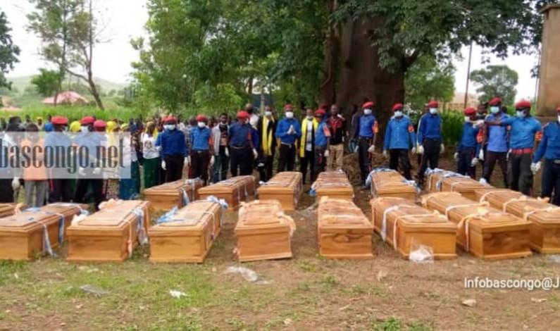 A Kimpese, décor planté pour l'inhumation des militants de BDM