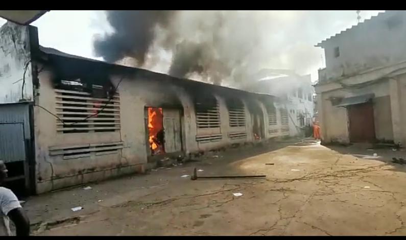 Boma: incendie des entrepôts de la soforma