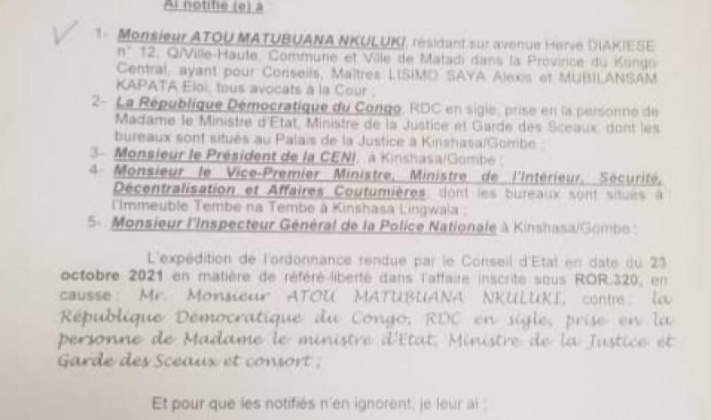 Conseil d'Etat contre vice-primature de l'Intérieur:qui l'emportera au Kongo central ?
