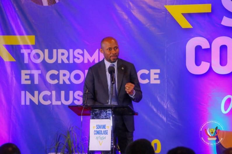 Le ministre Patrick Muyaya explique à la semaine congolaise du tourisme au Lualaba son refrain :»Le nouveau narratif de la RDC»
